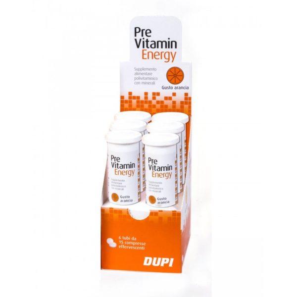 Previtamin Energy confezione 6 tubi Arancia